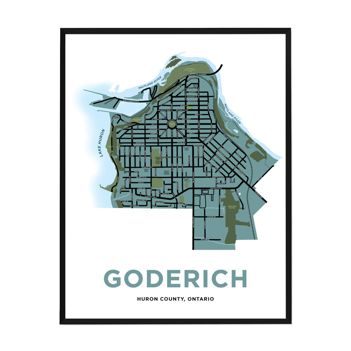 <i>*PICKUP ONLY*</i><br>Goderich Map Print