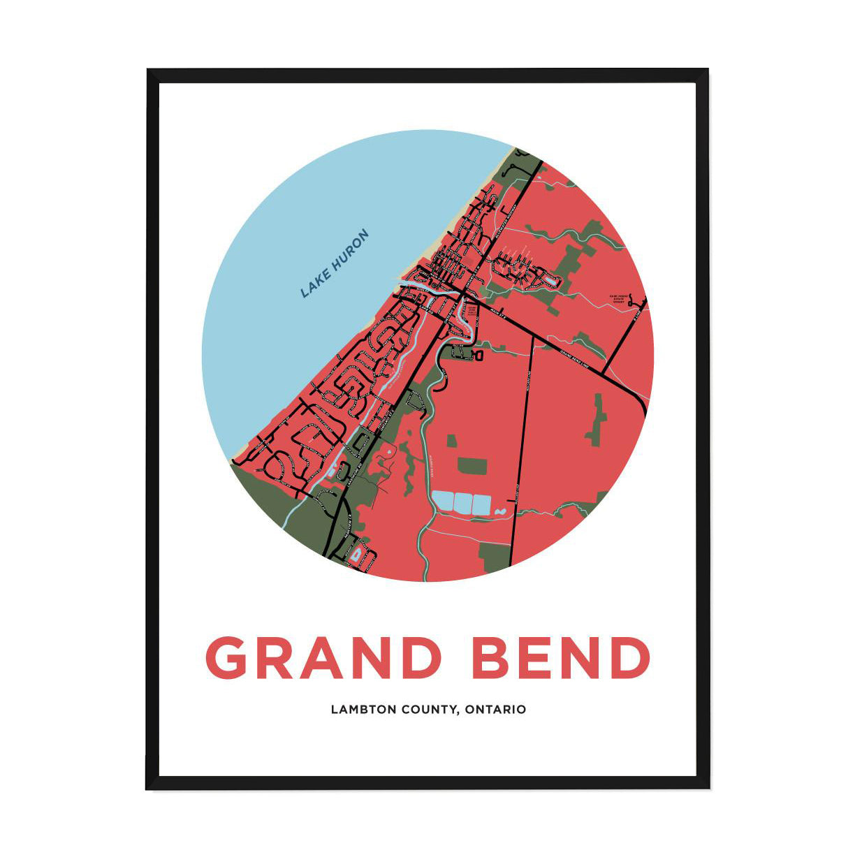<i>*PICKUP ONLY*</i><br>Grand Bend Map Print