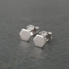 Hexagon Sterling Silver Studs