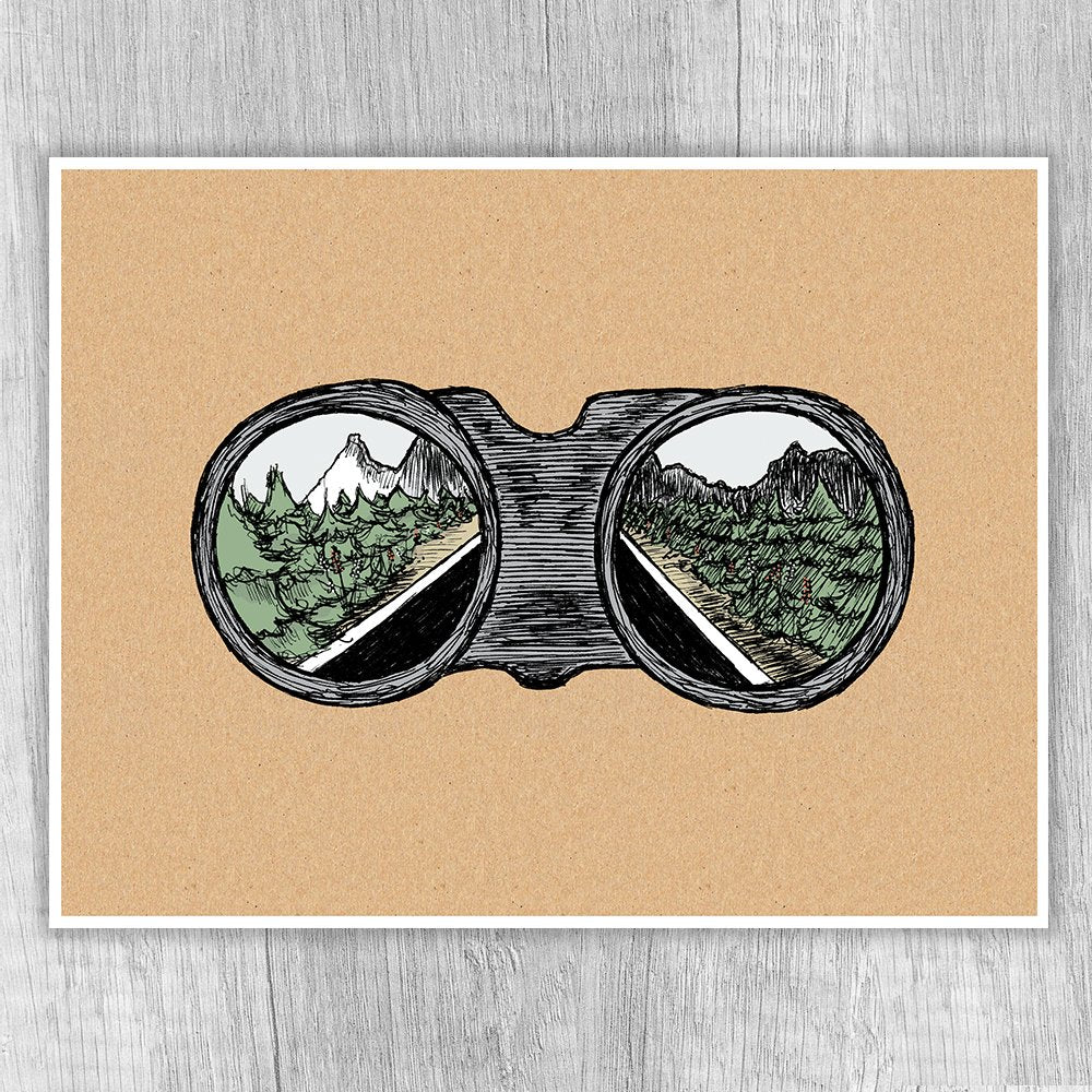 I See Adventure Ahead Print