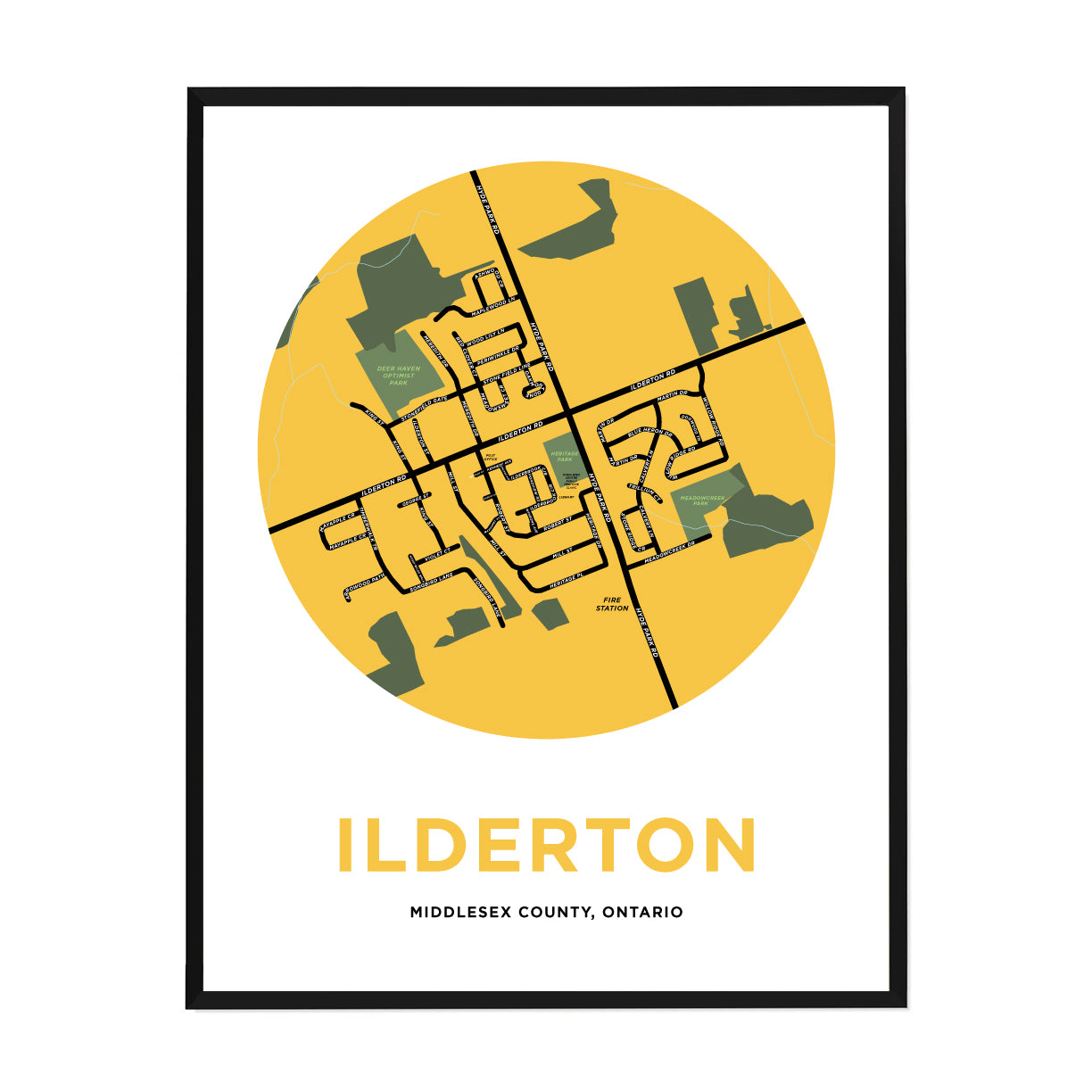 <i>*PICKUP ONLY*</i><br>Ilderton Map Print