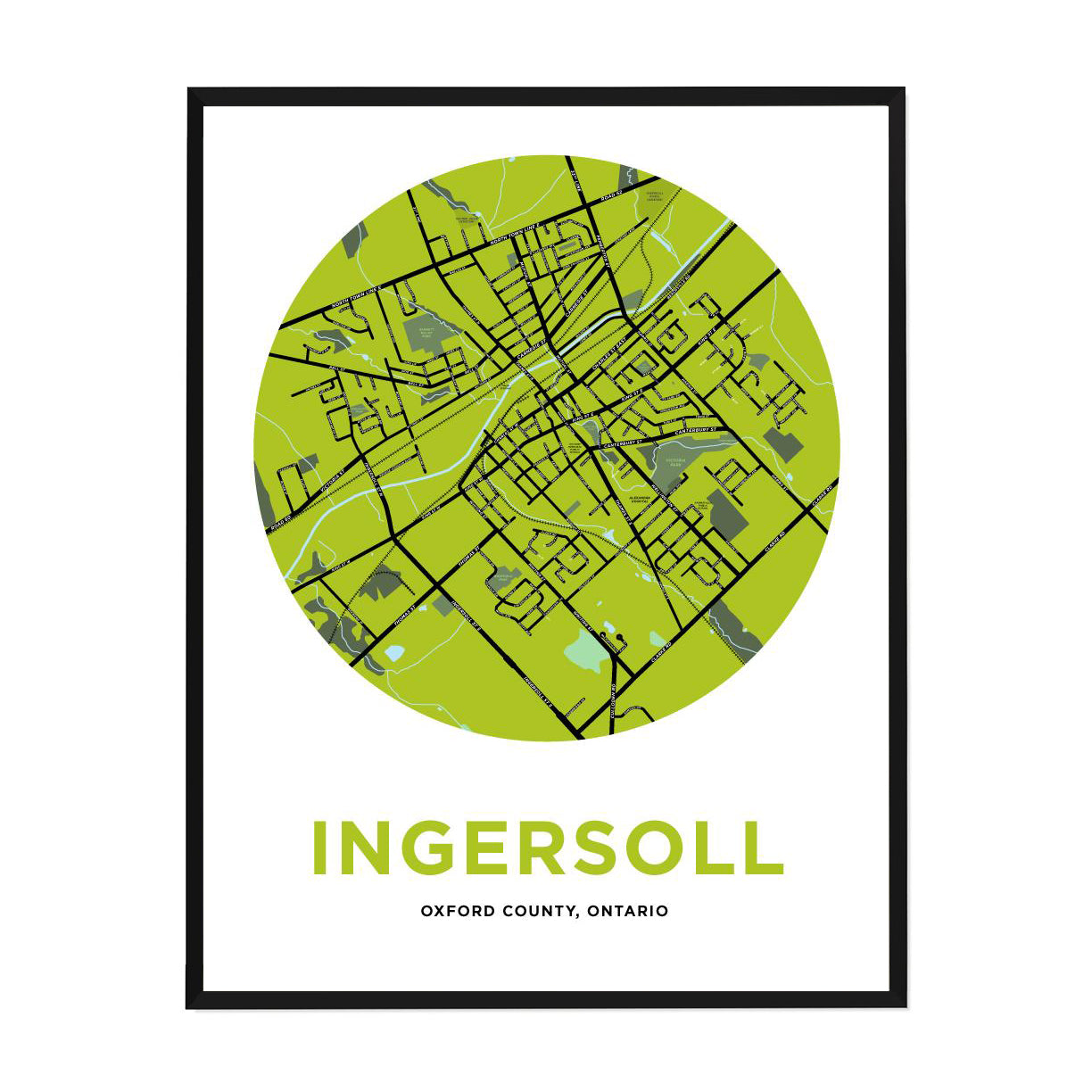<i>*PICKUP ONLY*</i><br>Ingersoll Map Print