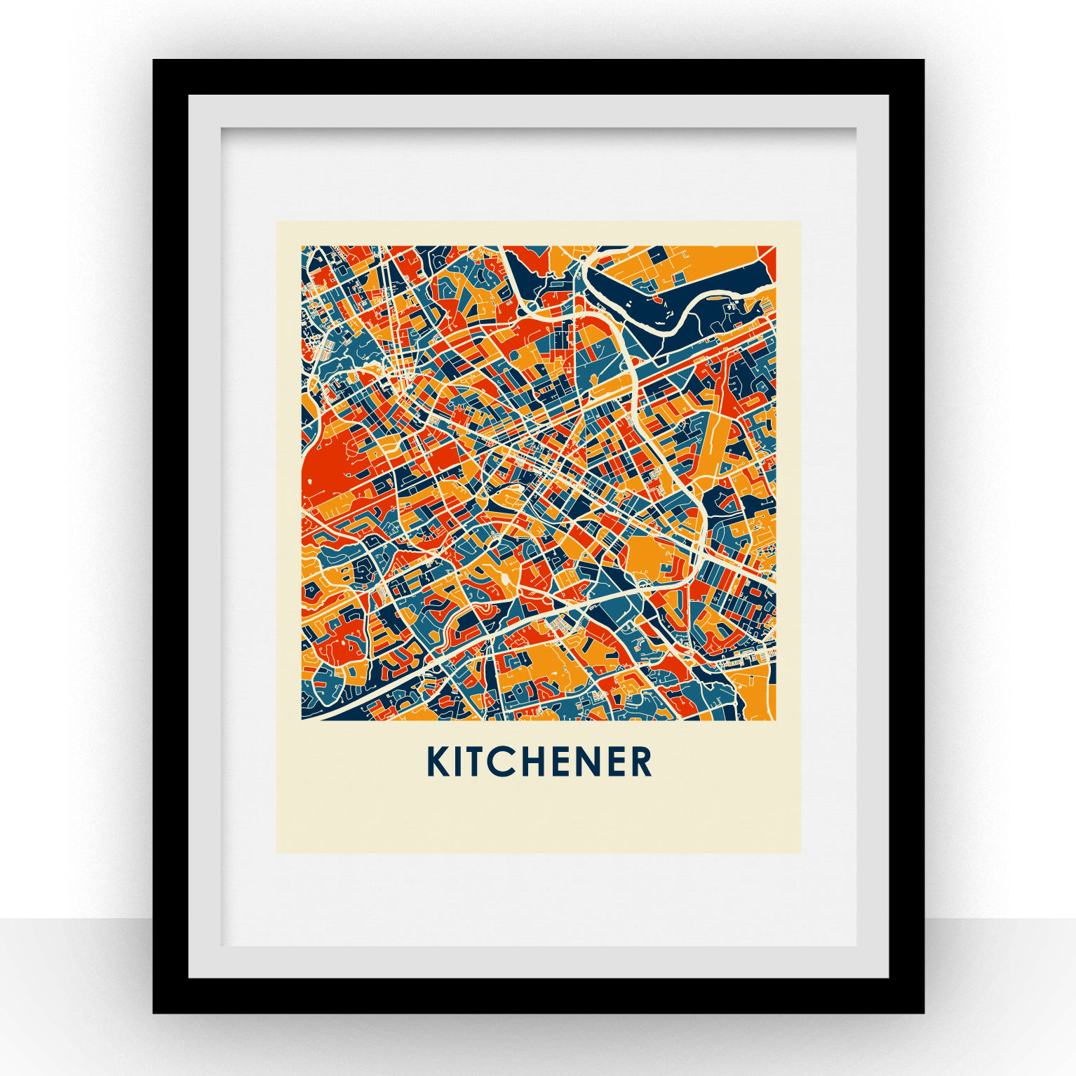 Kitchener Map Print