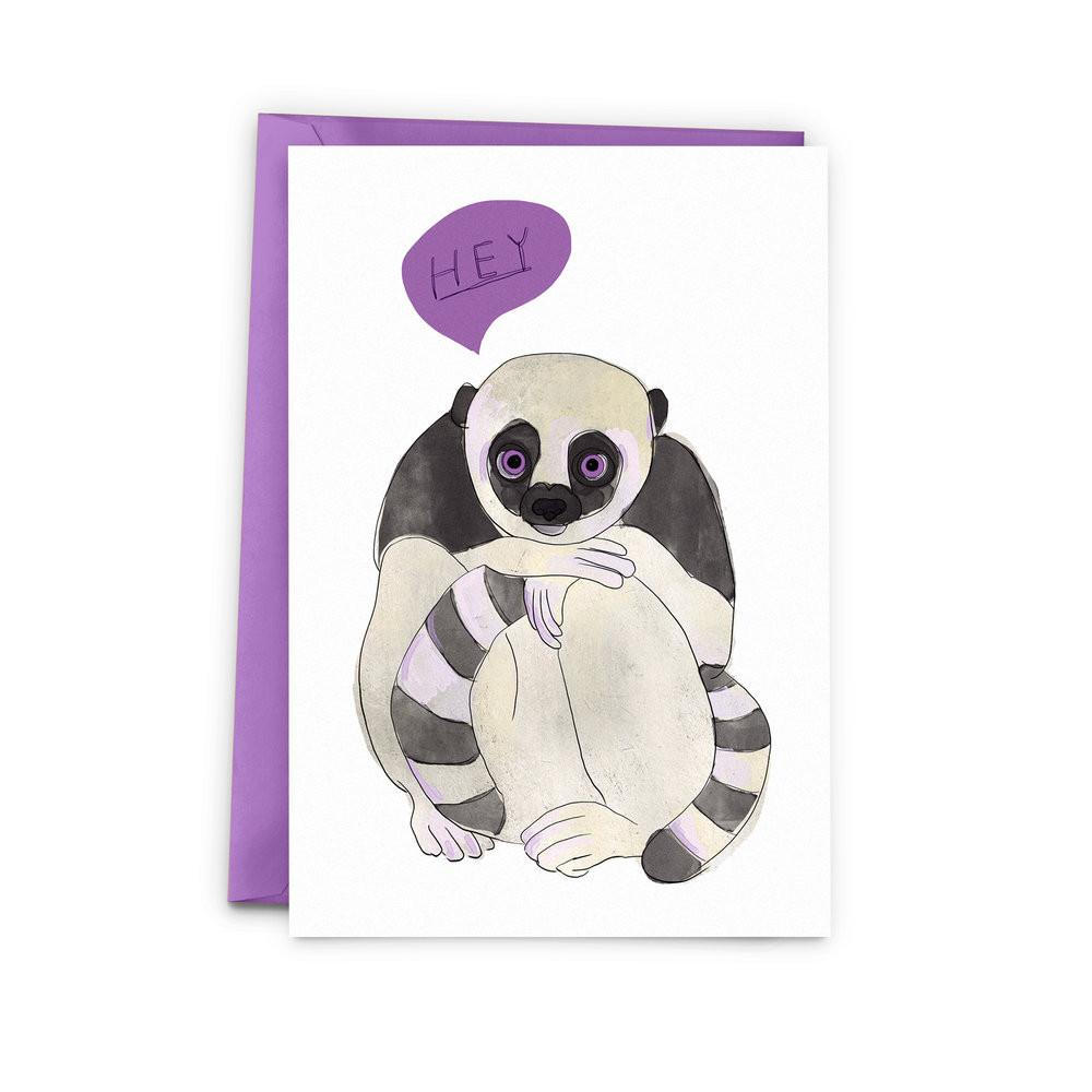 Hey Lemur Card