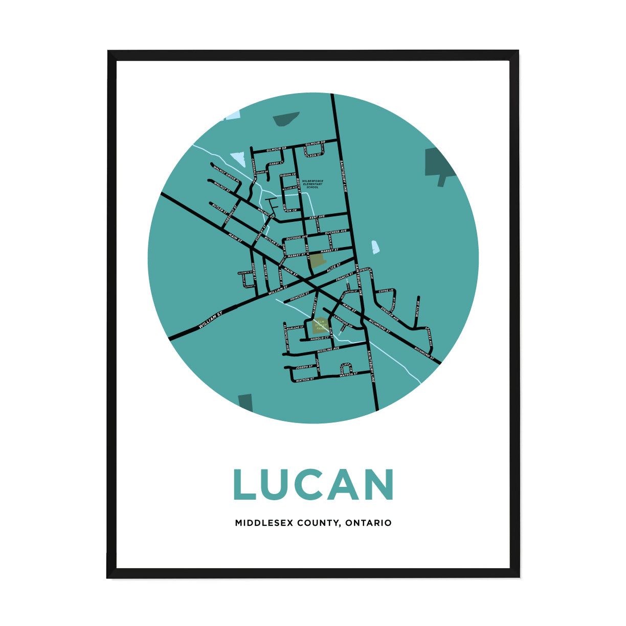 <i>*PICKUP ONLY*</i><br>Lucan Map Print