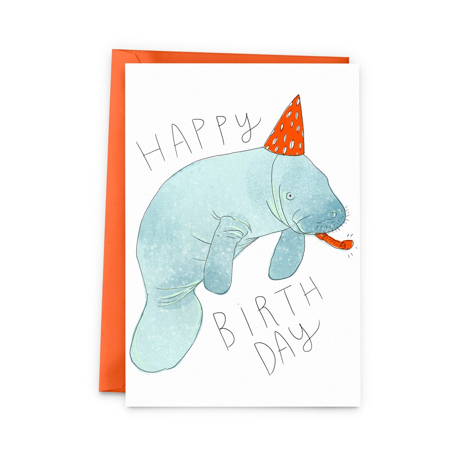 Manatee Happy Birthday Card