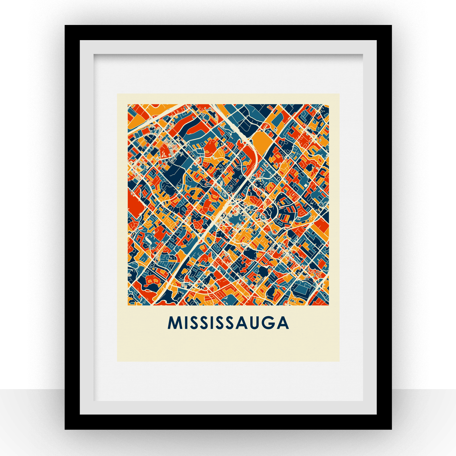 Mississauga Map Print