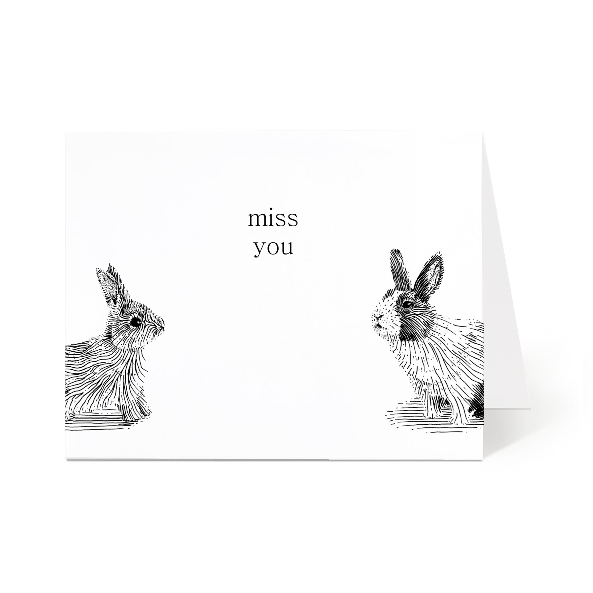 Miss You Bunnies Card