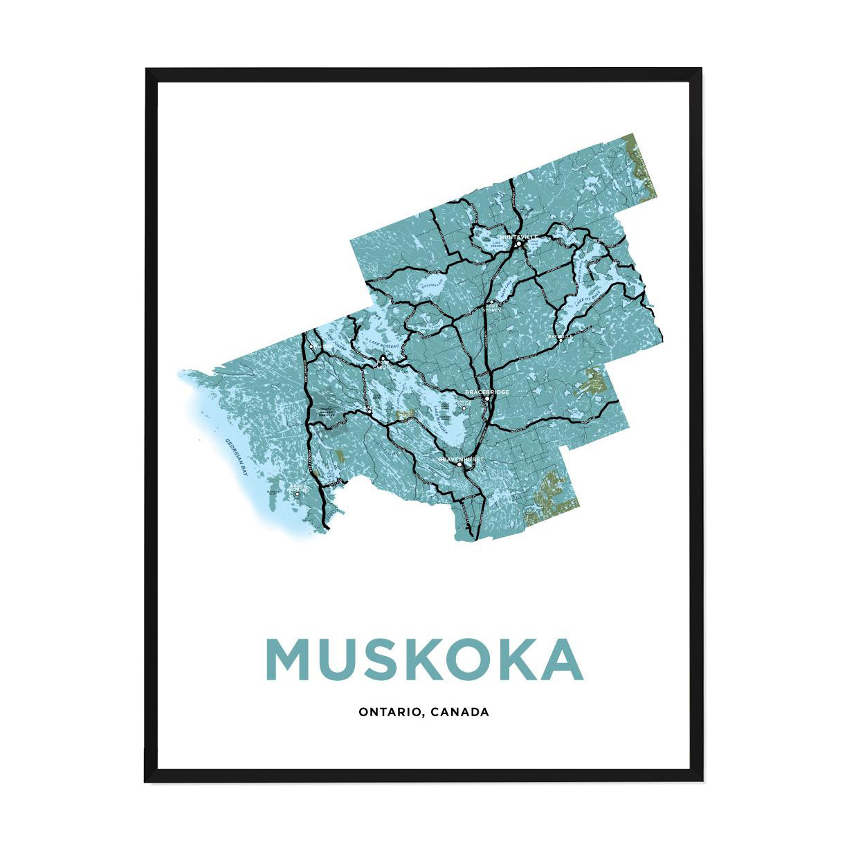 <i>*PICKUP ONLY*</i><br>Muskoka Map Print