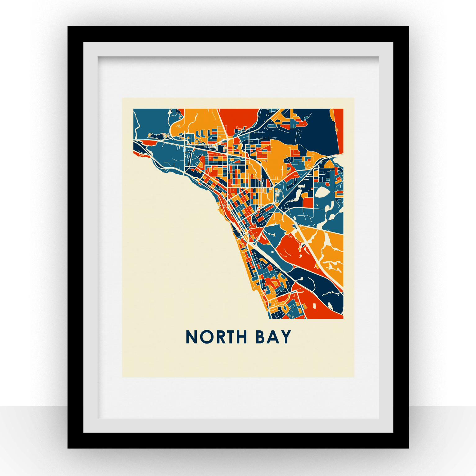 North Bay Map Print