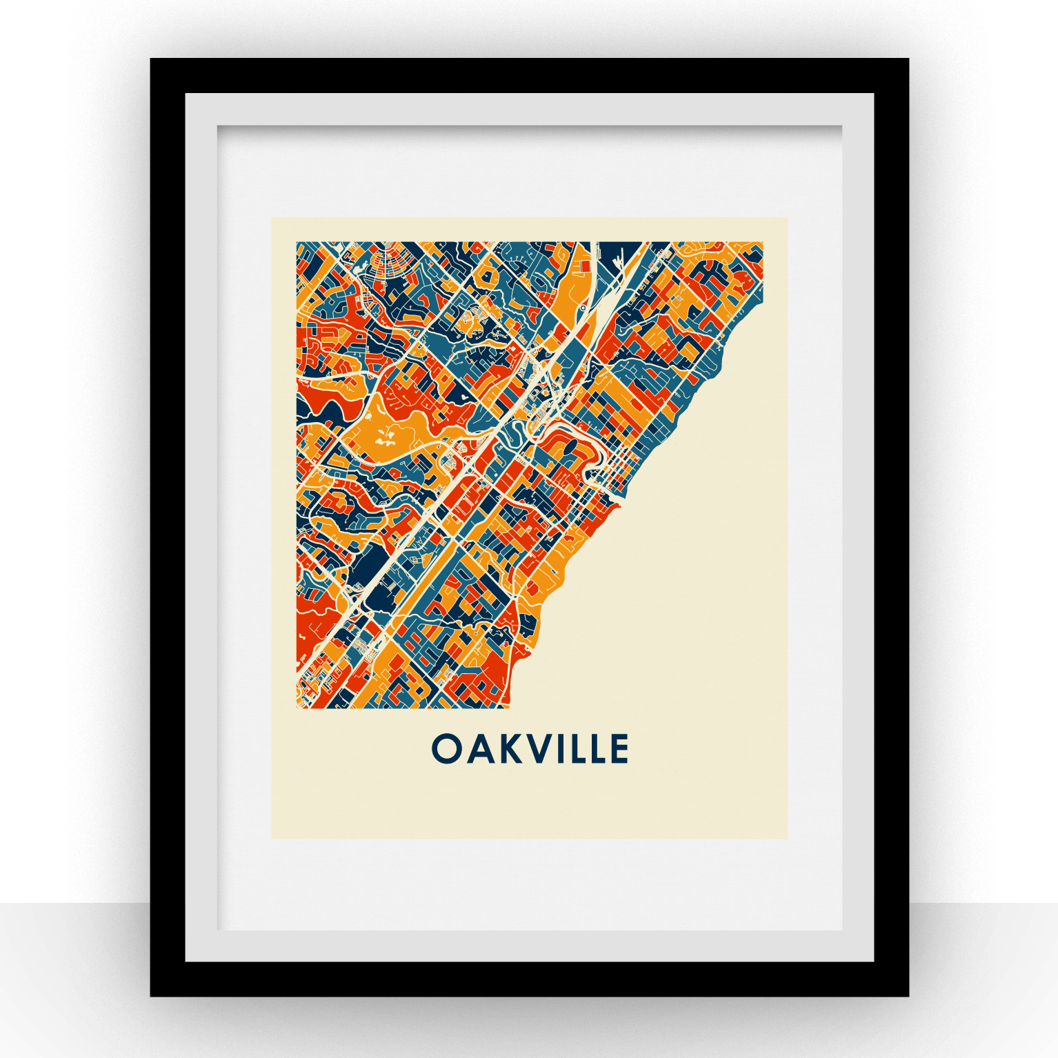 Oakville Map Print