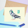 Pigeon On The Phone Card