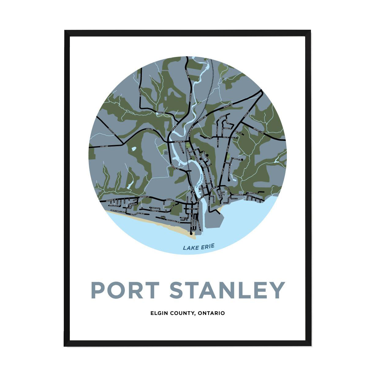 <i>*PICKUP ONLY*</i><br>Port Stanley Map Print