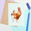 Hen On The Phone Card