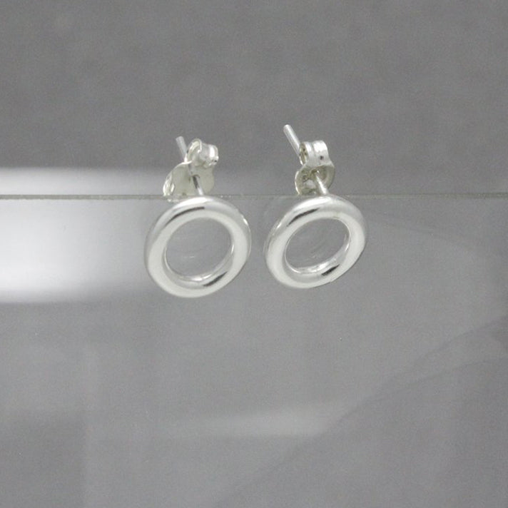 Circle Sterling Silver Studs