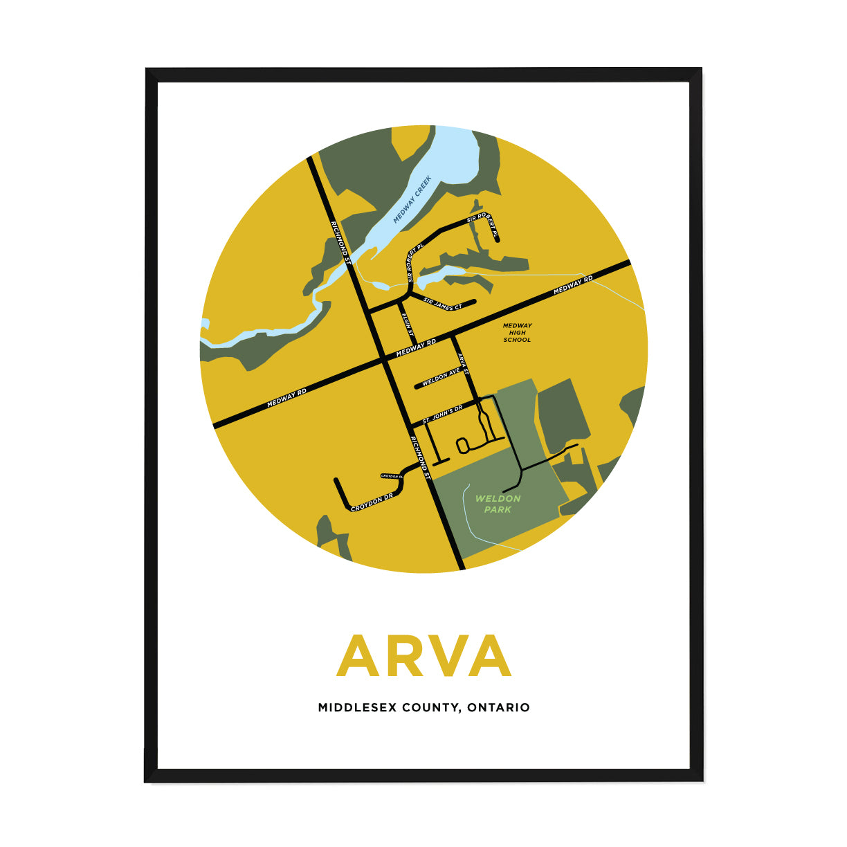 <i>*PICKUP ONLY*</i><br>Arva Map Print