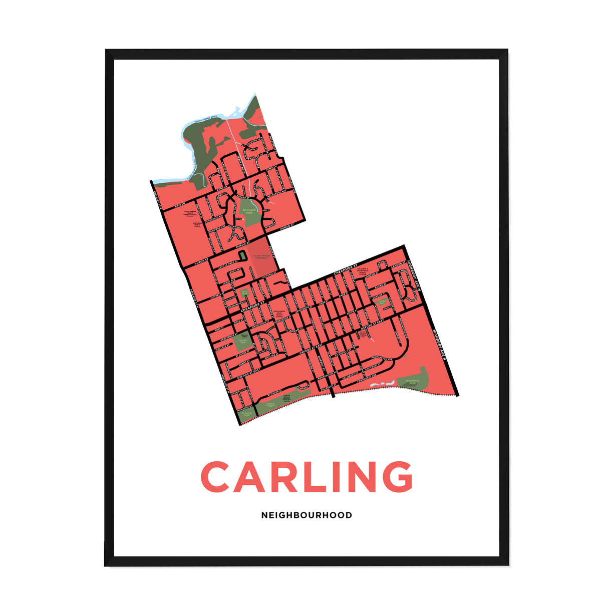 <i>*PICKUP ONLY*</i><br>Carling Neighbourhood Map Print