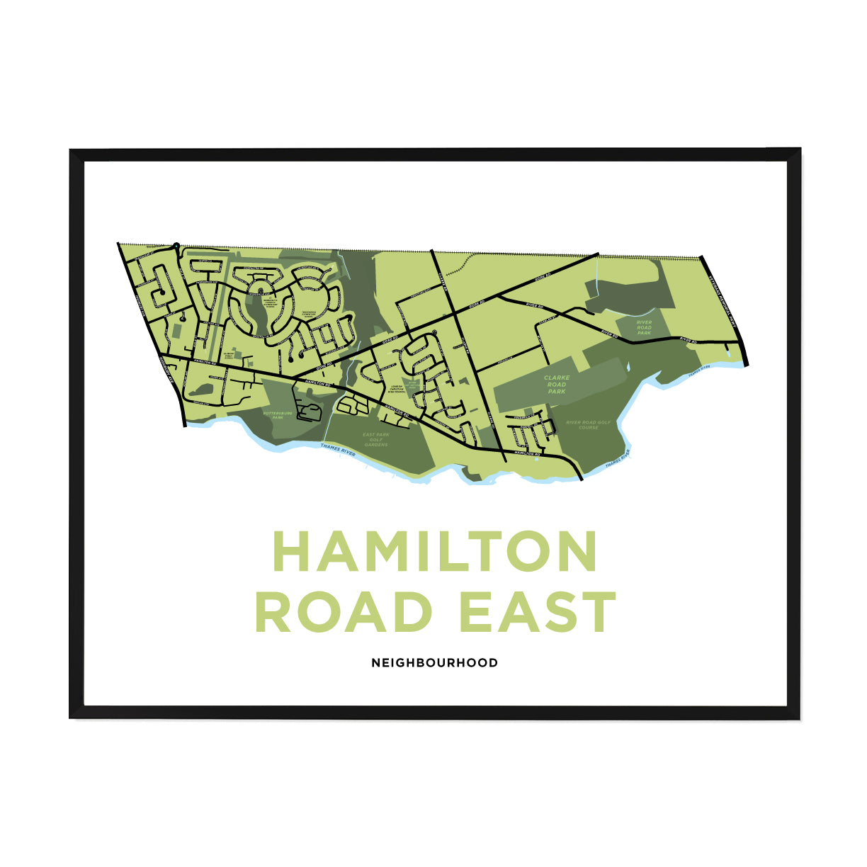 <i>*PICKUP ONLY*</i><br>Hamilton Road East Neighbourhood Map Print