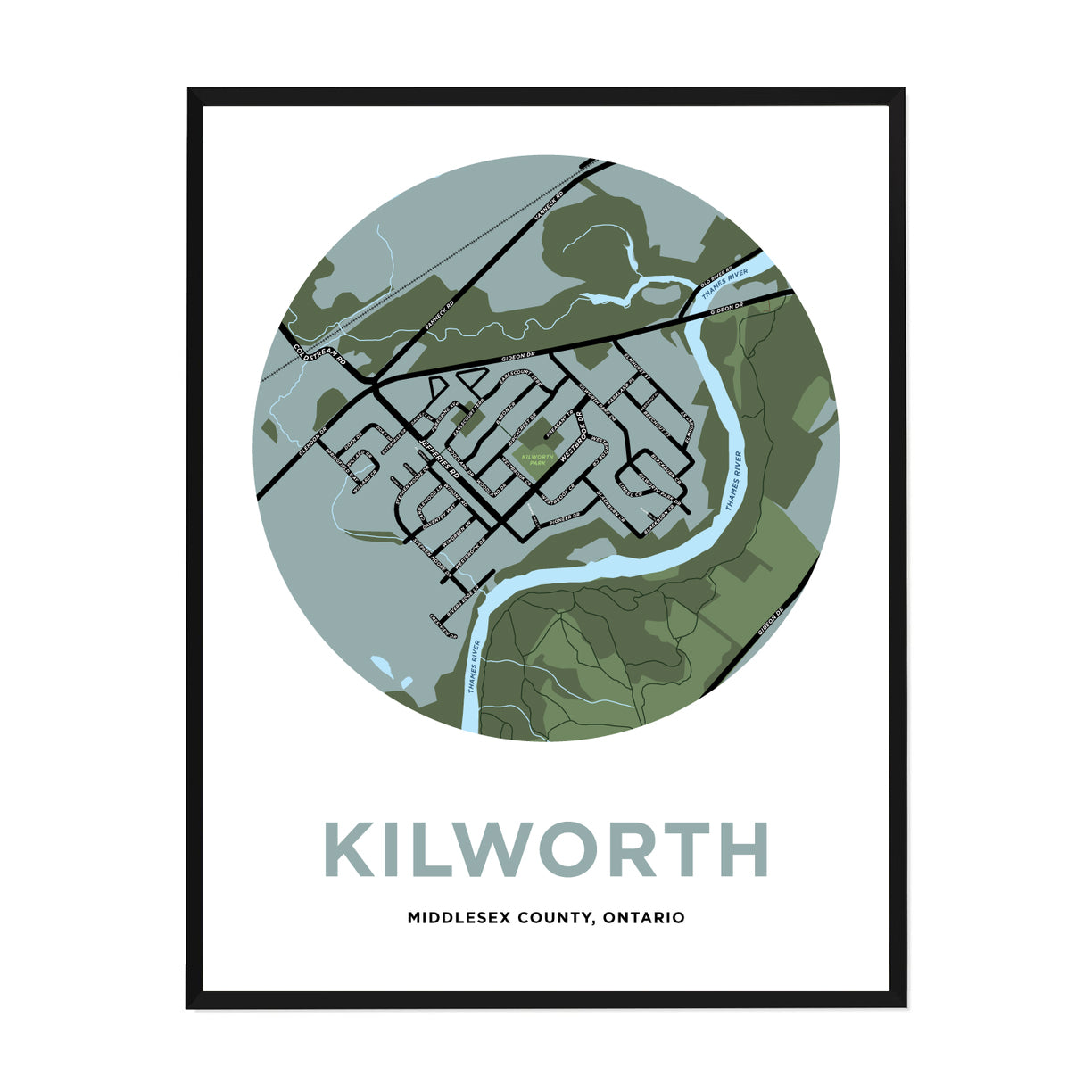 <i>*PICKUP ONLY*</i><br>Kilworth Map Print