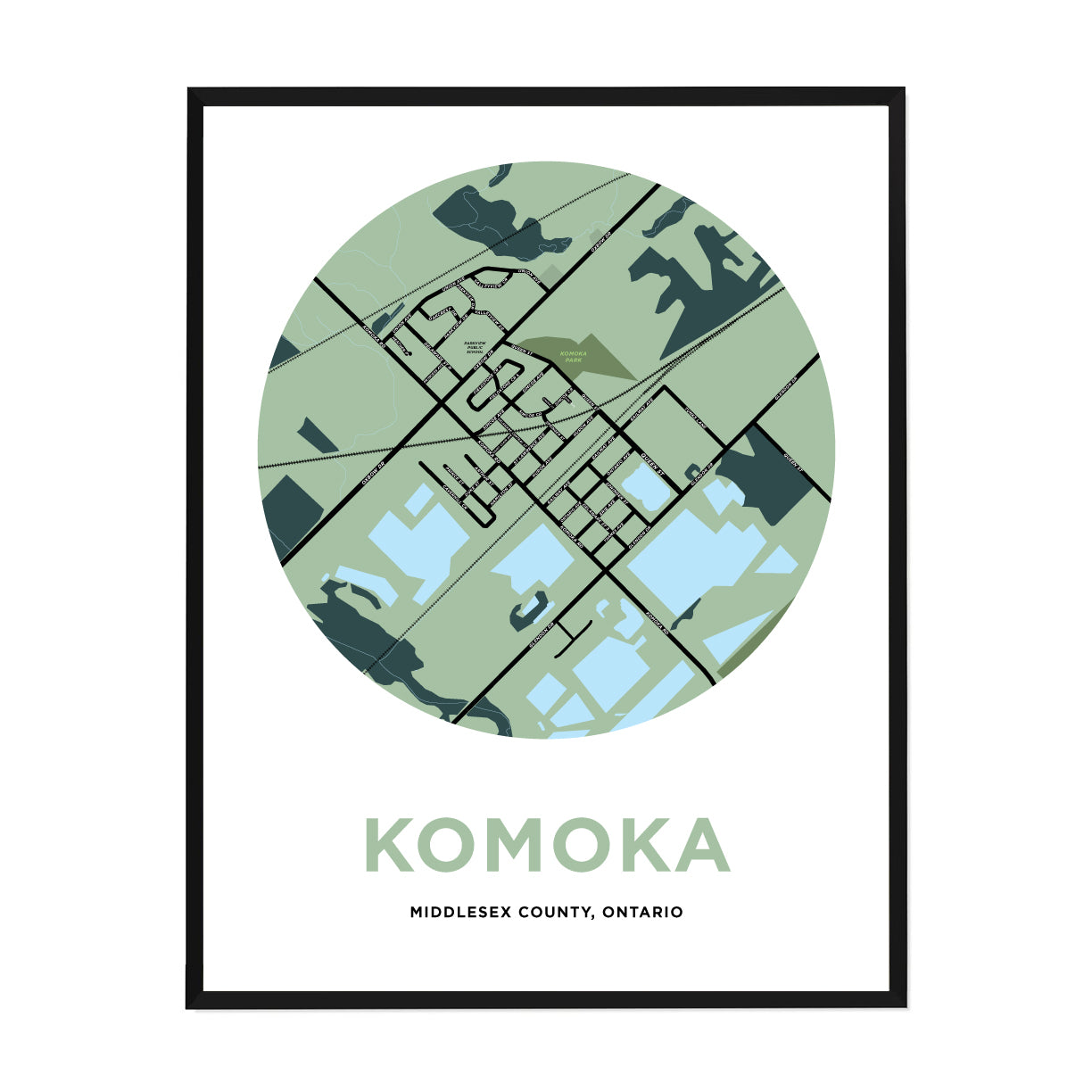 <i>*PICKUP ONLY*</i><br>Komoka Map Print