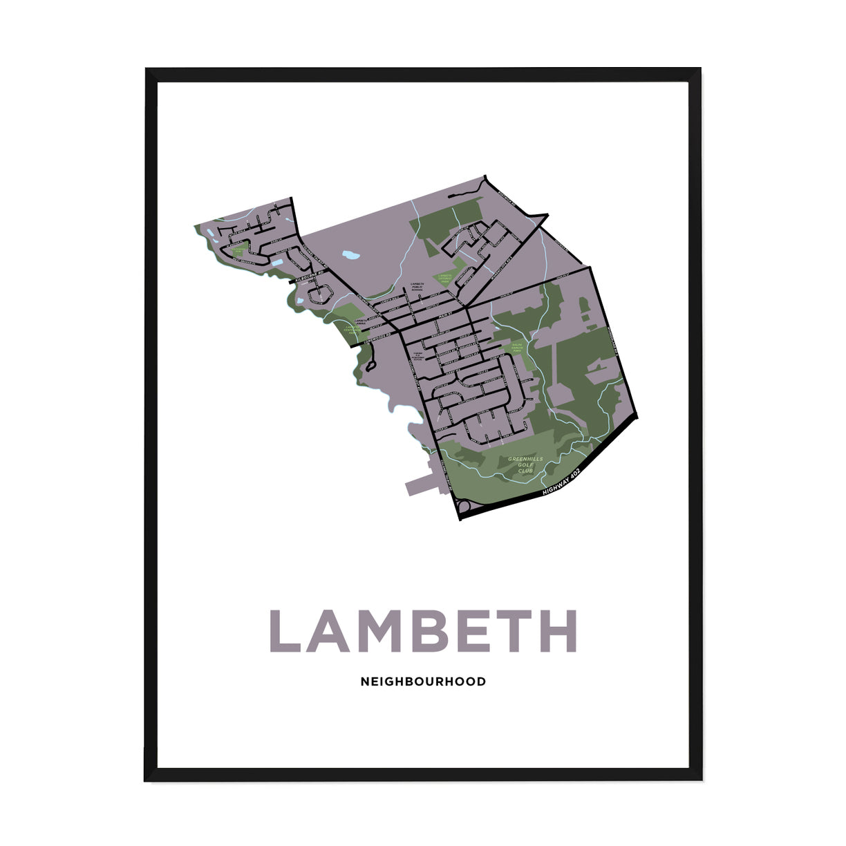 <i>*PICKUP ONLY*</i><br>Lambeth Neighbourhood Map Print
