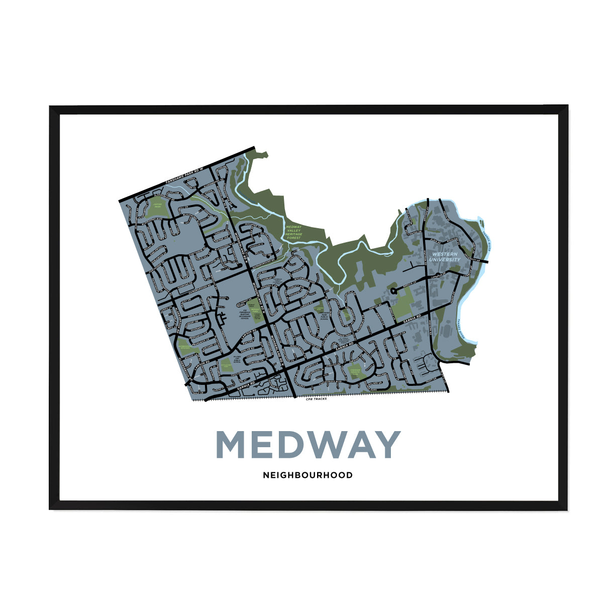 <i>*PICKUP ONLY*</i><br>Medway Neighbourhood Map Print