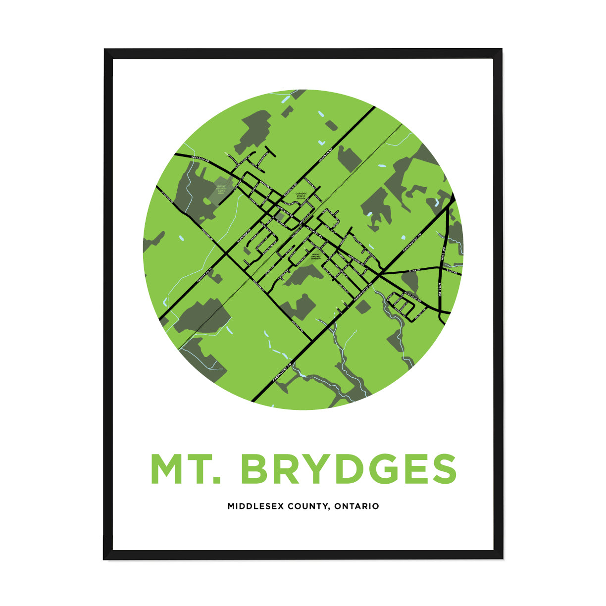 <i>*PICKUP ONLY*</i><br>Mt. Brydges Map Print