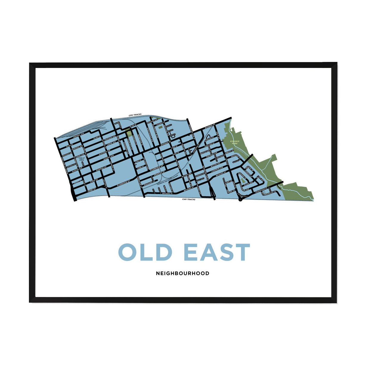 <i>*PICKUP ONLY*</i><br>Old East Neighbourhood Map Print