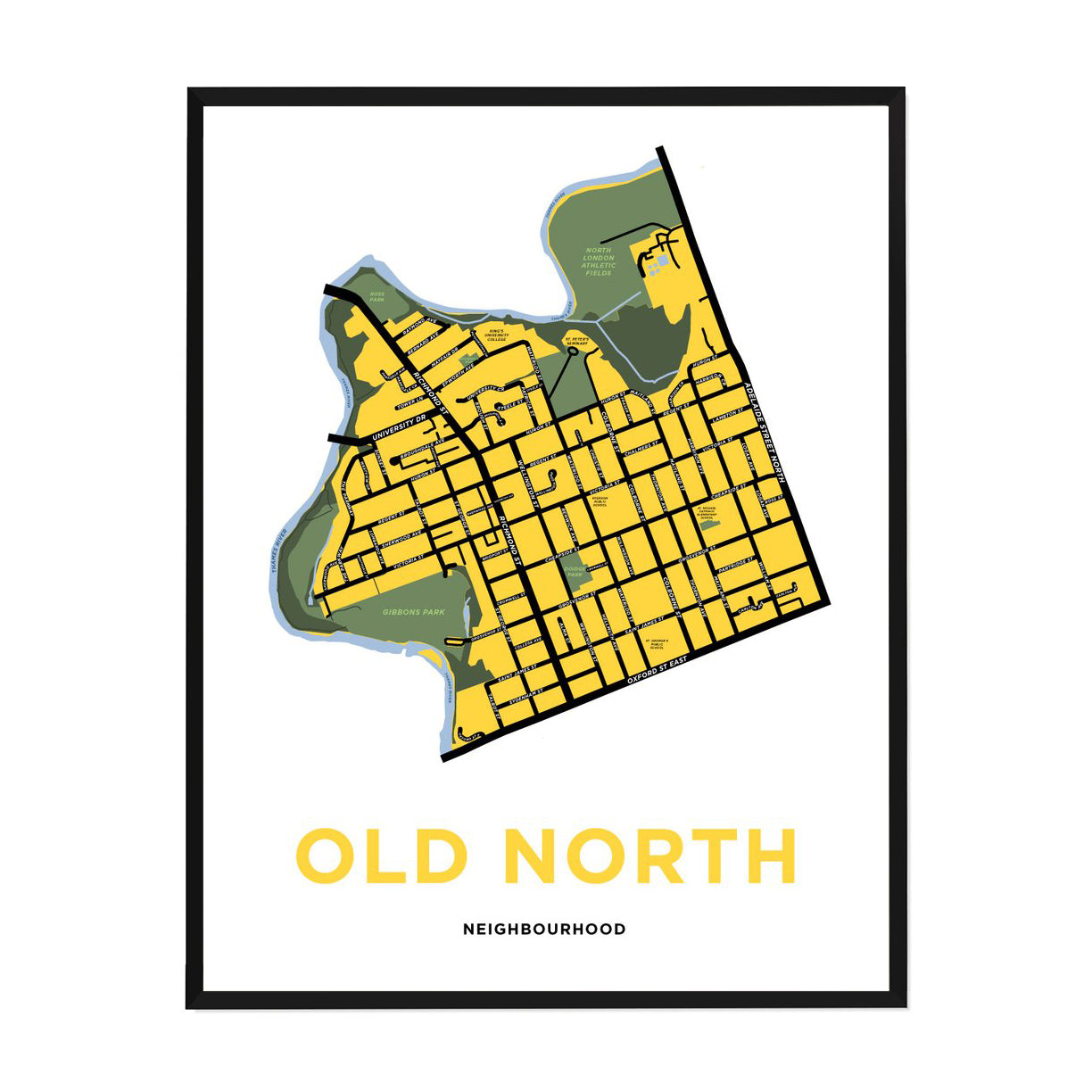 <i>*PICKUP ONLY*</i><br>Old North Neighbourhood Map Print