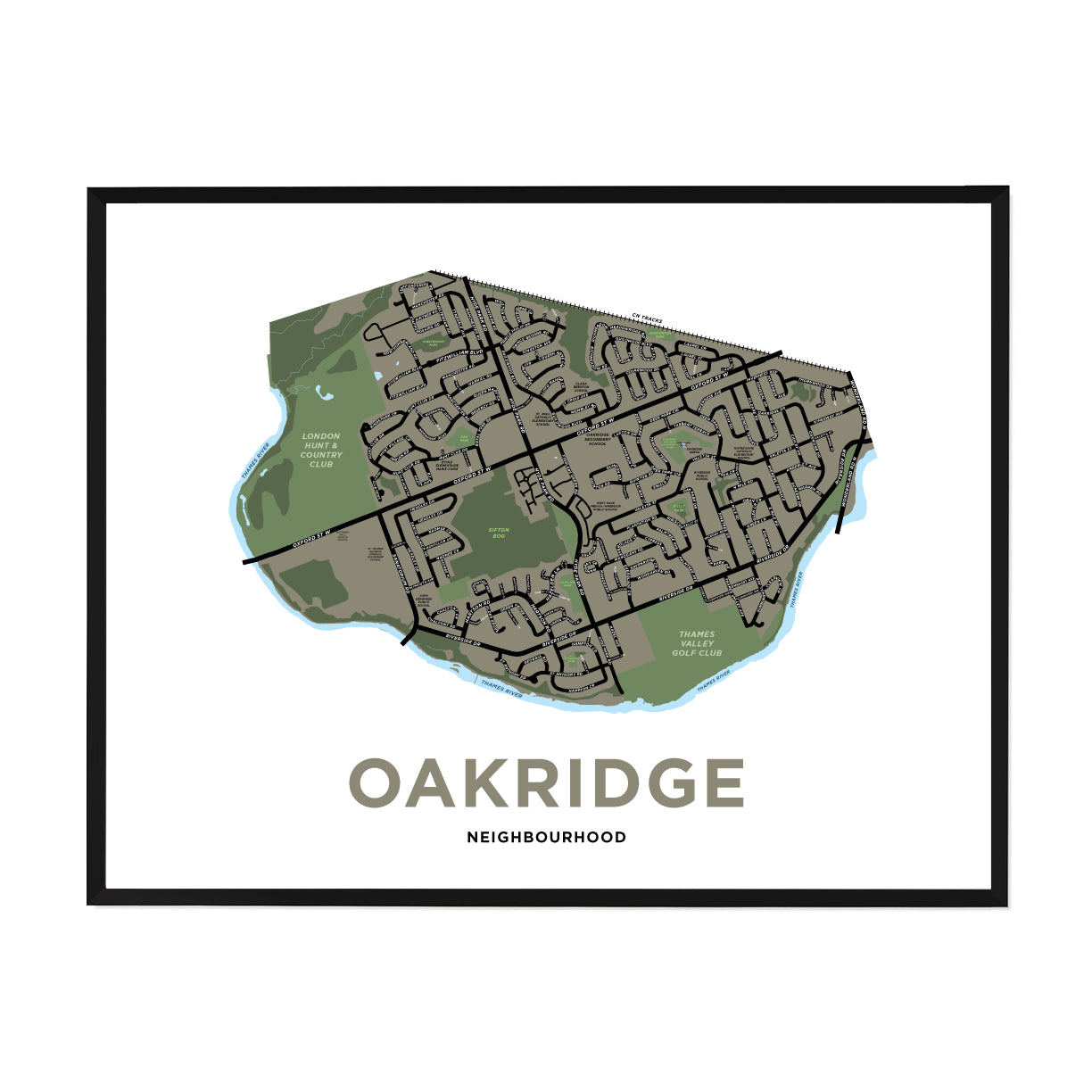 <i>*PICKUP ONLY*</i><br>Oakridge Neighbourhood Map Print