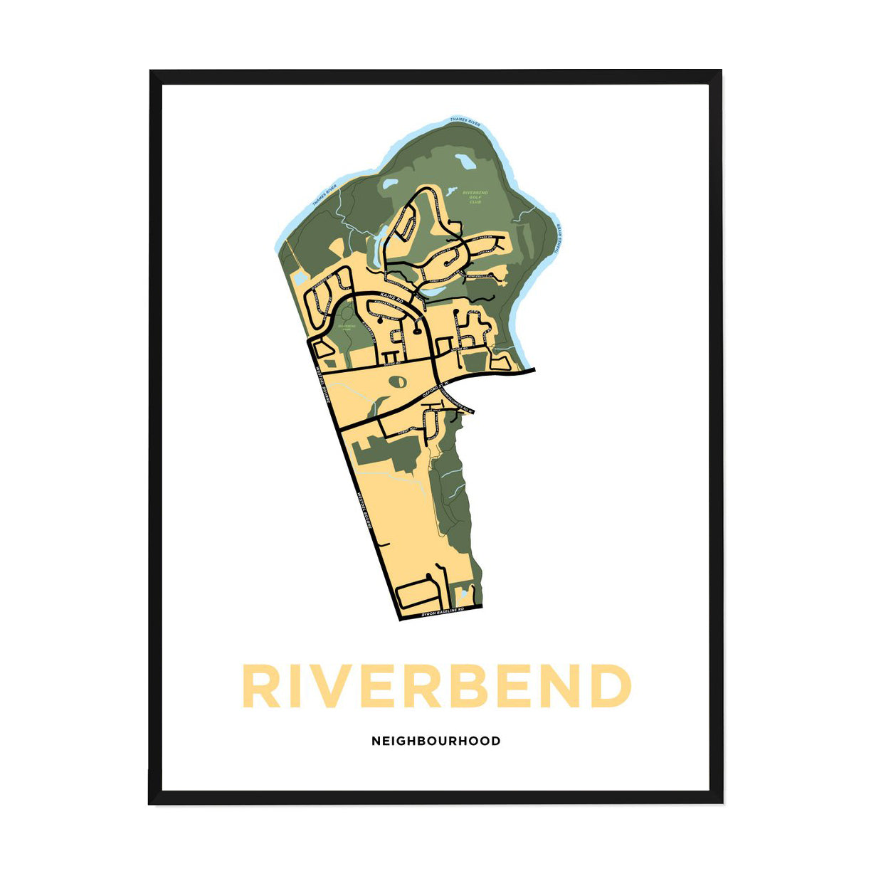 <i>*PICKUP ONLY*</i><br>Riverbend Neighbourhood Map Print