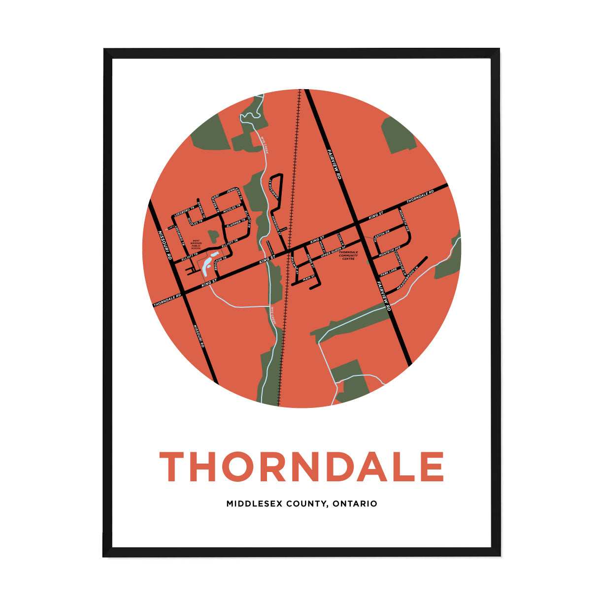 <i>*PICKUP ONLY*</i><br>Thorndale Map Print