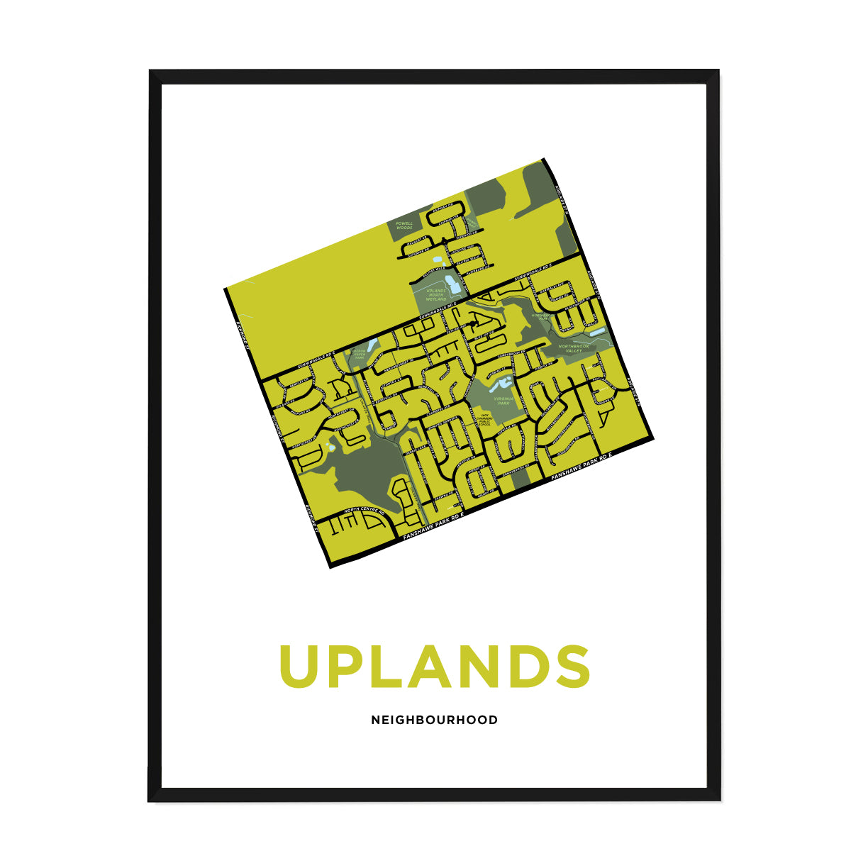 <i>*PICKUP ONLY*</i><br>Uplands Neighbourhood Map Print
