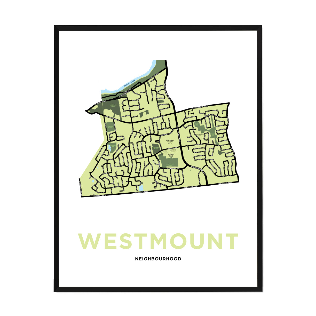 <i>*PICKUP ONLY*</i><br>Westmount Neighbourhood Map Print