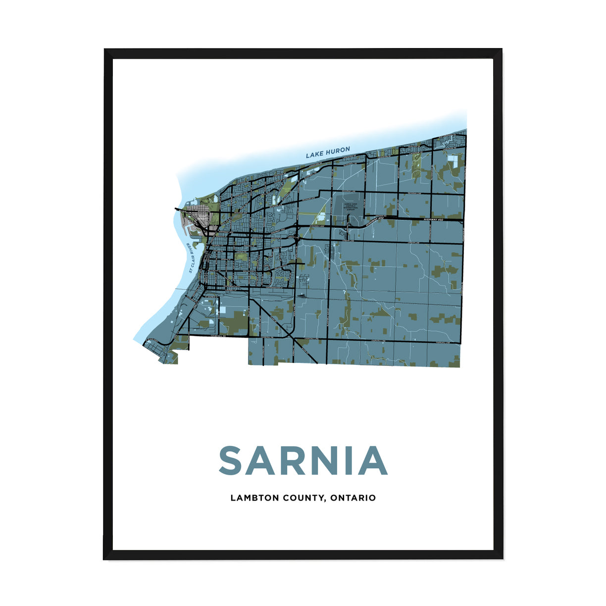 <i>*PICKUP ONLY*</i><br>Sarnia Map Print