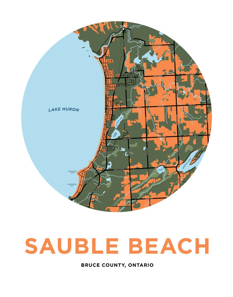 <i>*PICKUP ONLY*</i><br>Sauble Beach Map Print