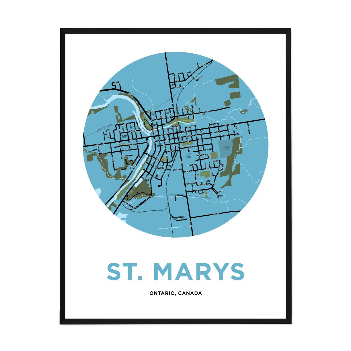 <i>*PICKUP ONLY*</i><br>St. Marys Map Print