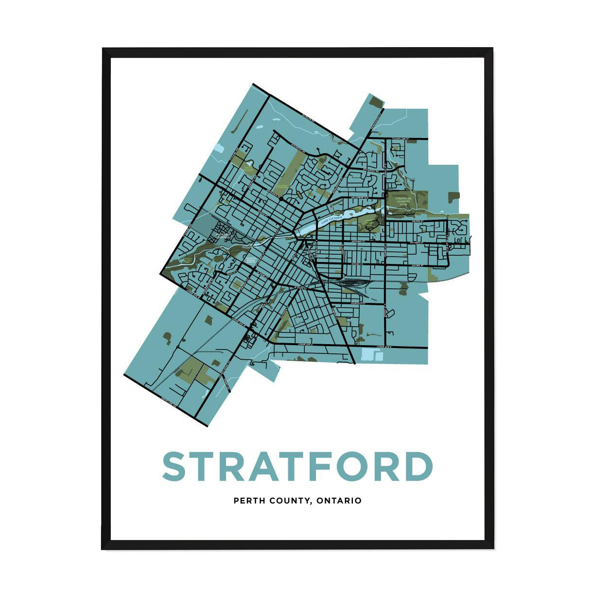 <i>*PICKUP ONLY*</i><br>Stratford Map Print