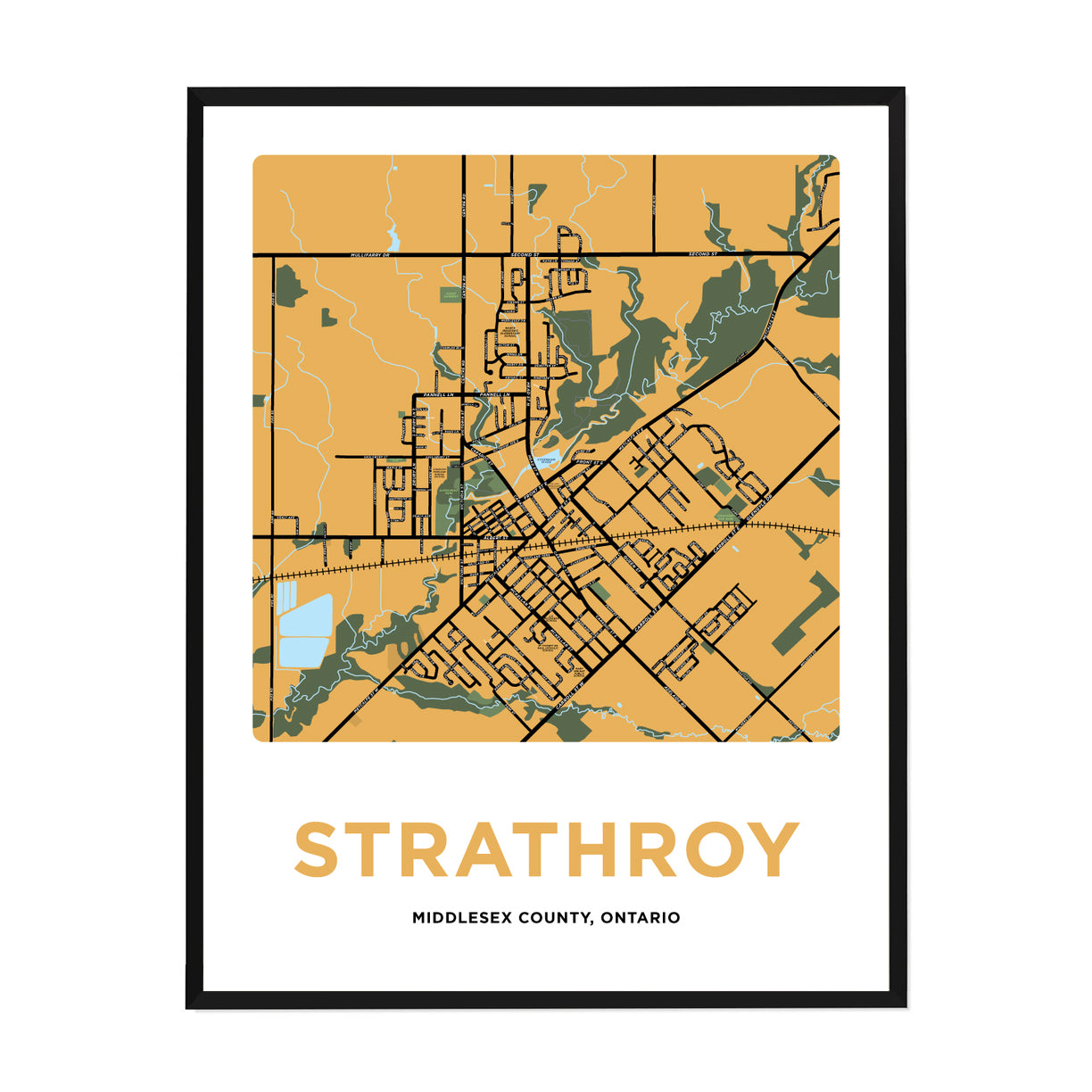 <i>*PICKUP ONLY*</i><br>Strathroy Map Print