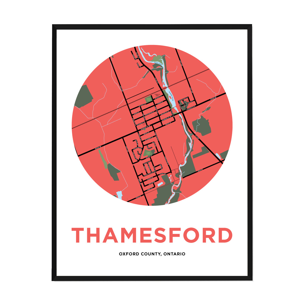 <i>*PICKUP ONLY*</i><br>Thamesford Map Print