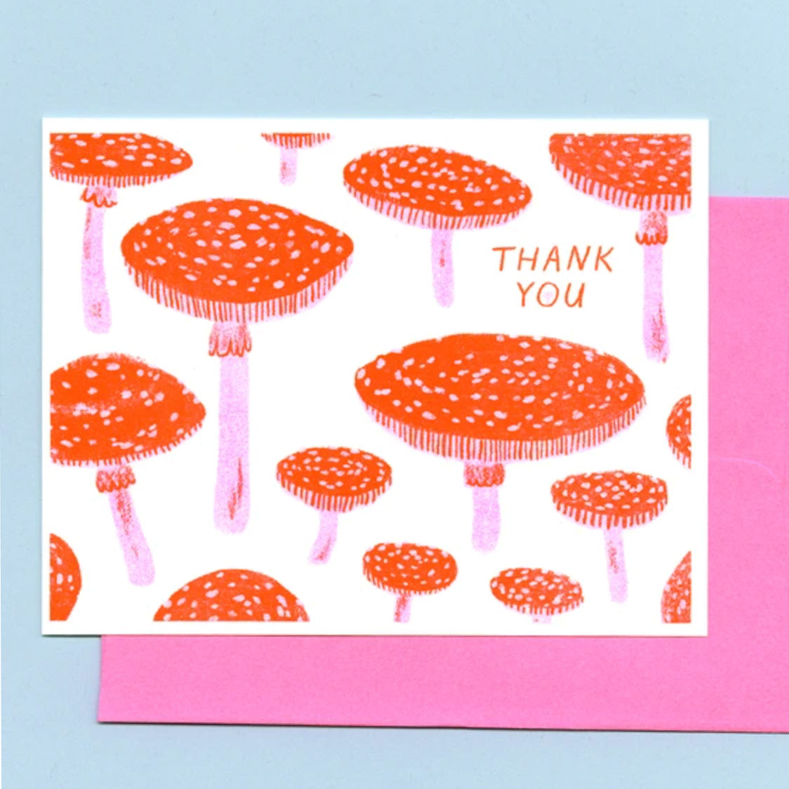 Toadstool Thank You Card