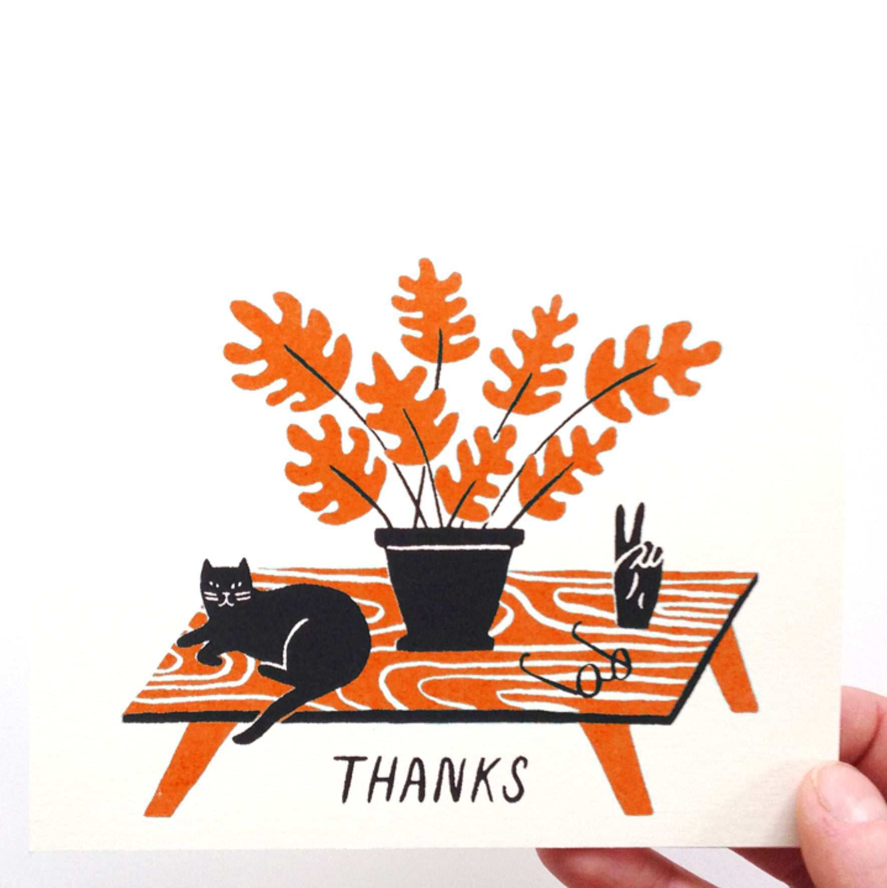 Thanks Card - Orange