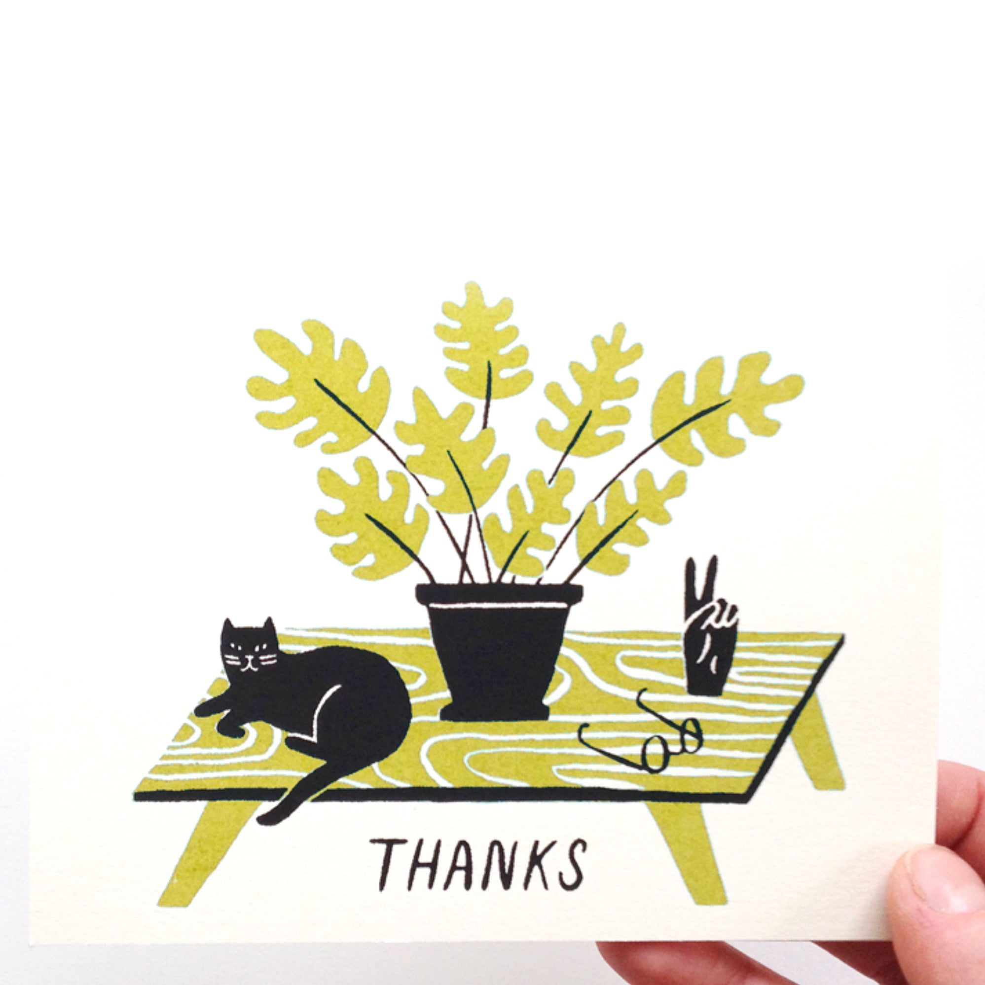 Thanks Card - Yellow