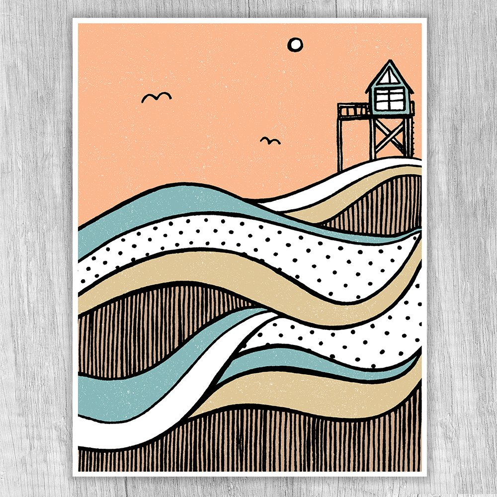 The Beach House Print