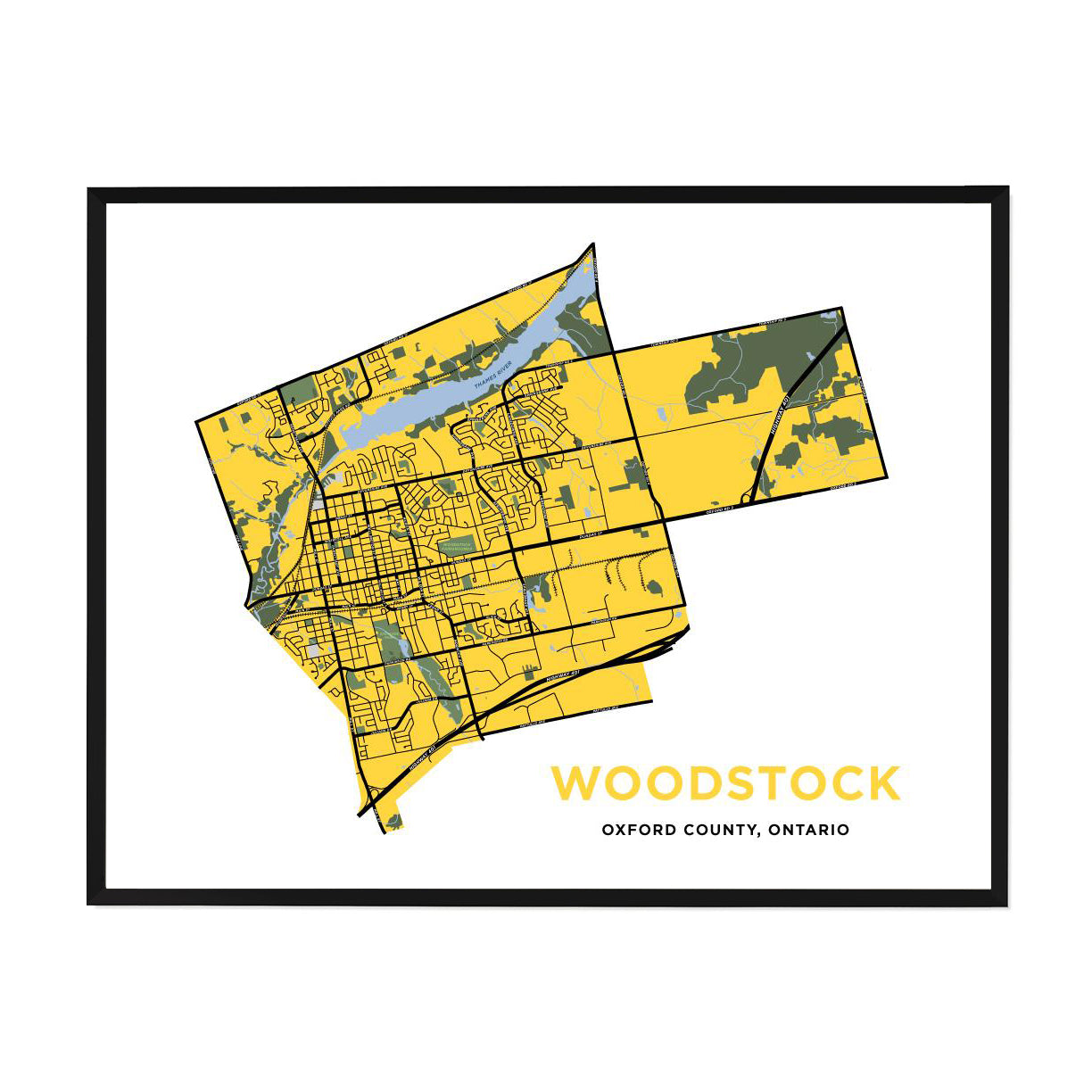 <i>*PICKUP ONLY*</i><br>Woodstock Map Print