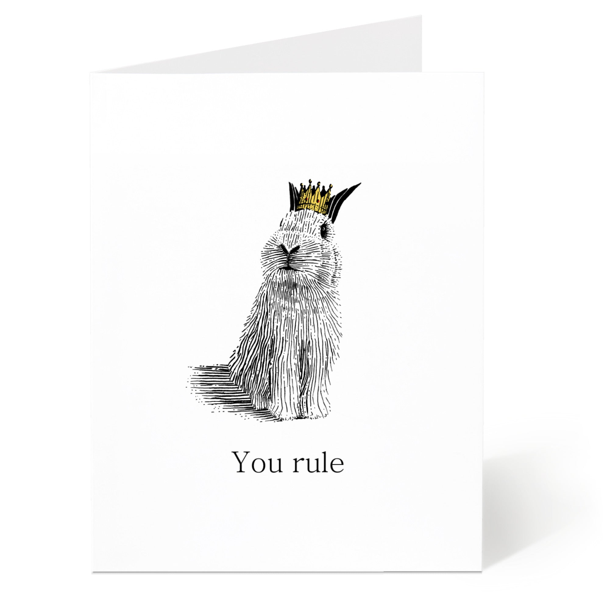 You Rule Bunny Card