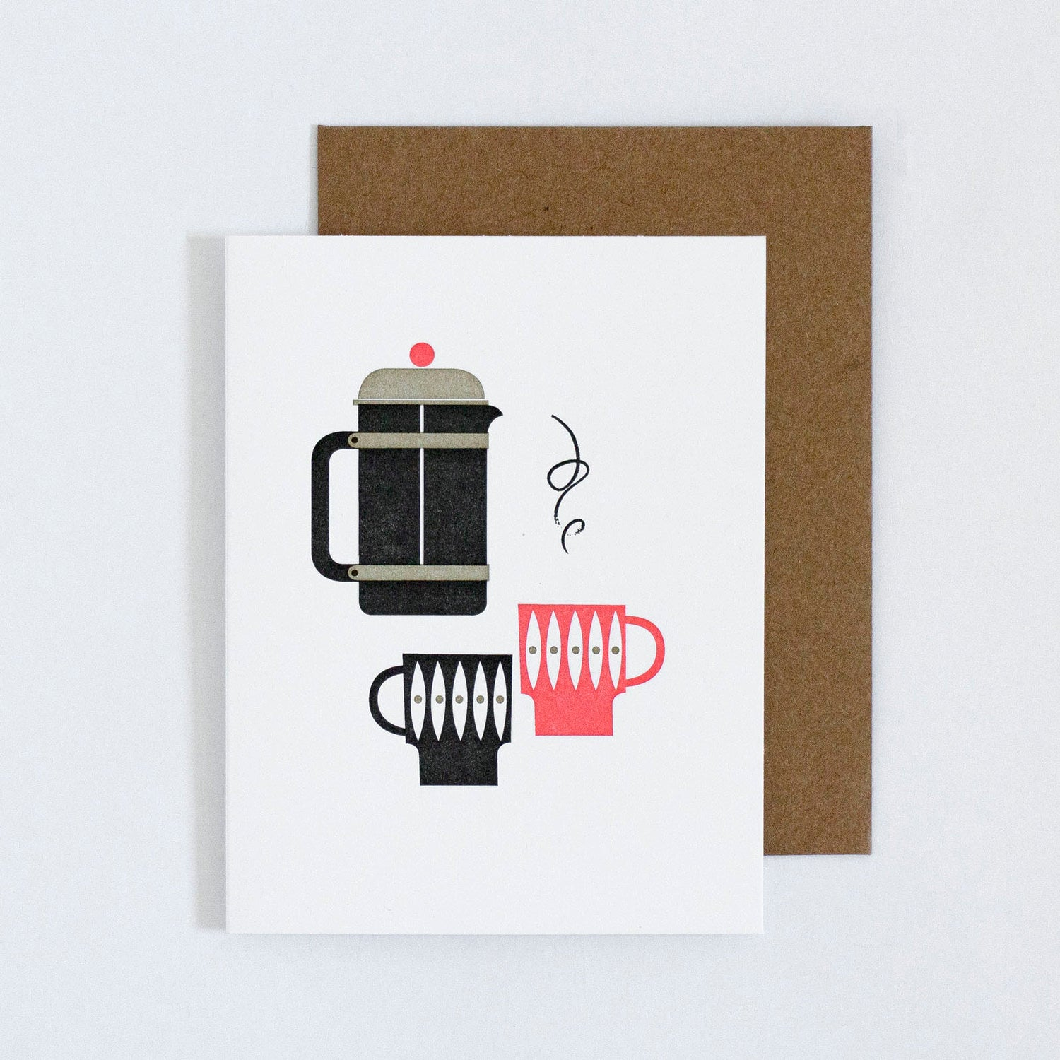 French Press For Two Card
