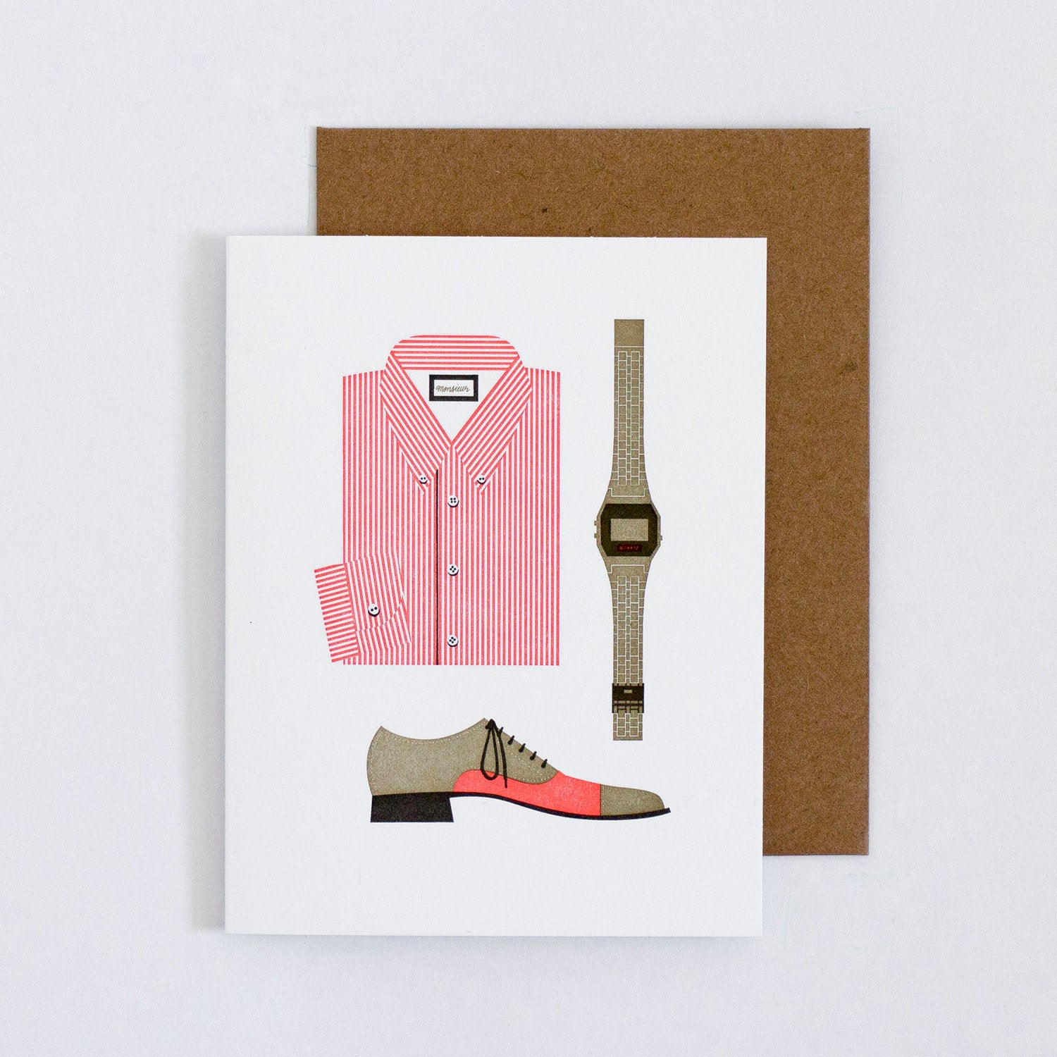 Oxford Shirt, Wingtips, Casio Card