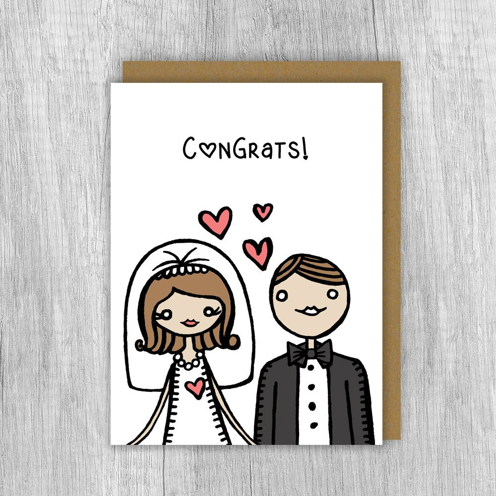 Congrats Bride & Groom Card