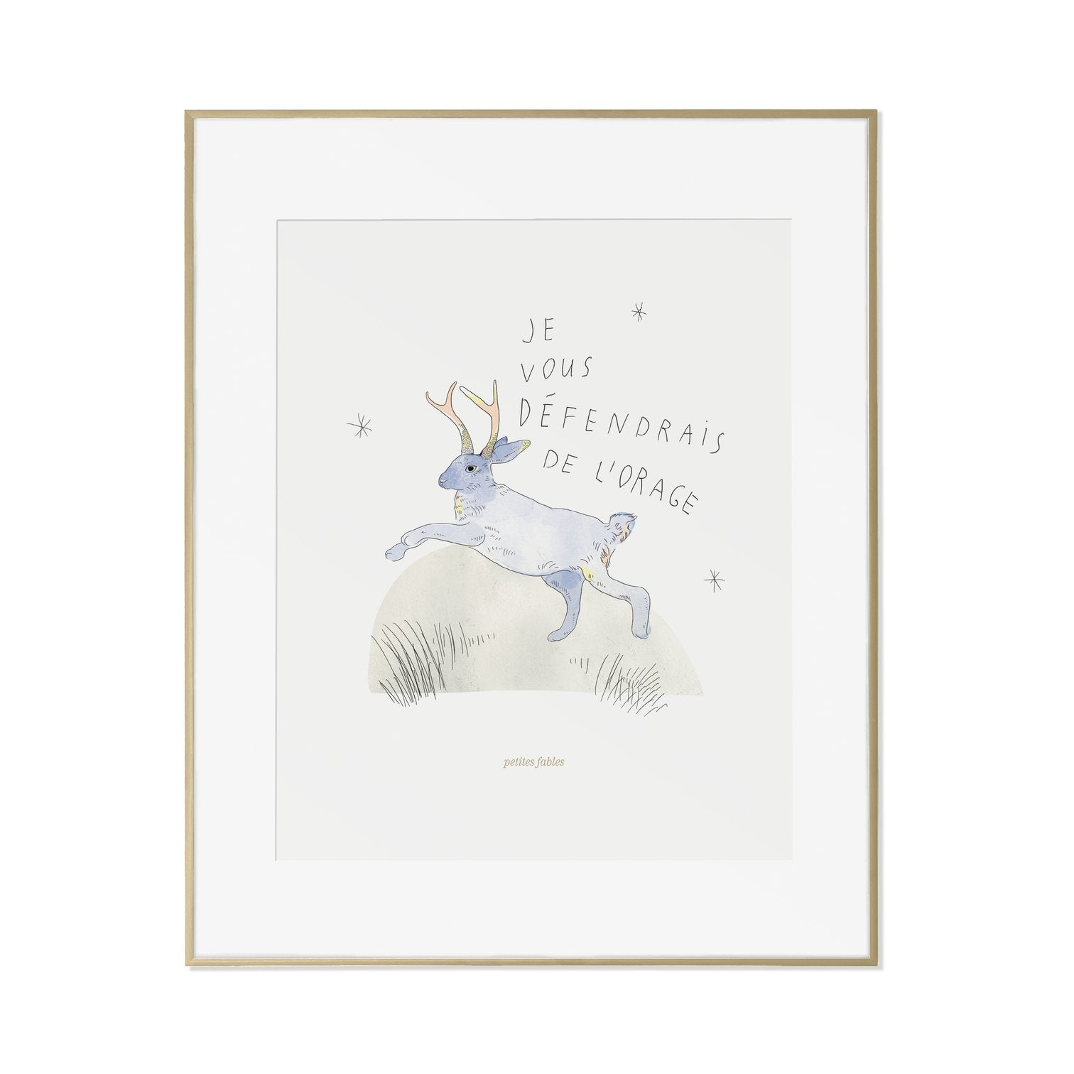 The Hare's Fable Print